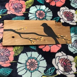 Hand painted wood plank